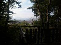 見晴台から望む丹沢連峰