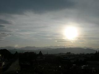 相模原市 北公園より丹沢連峰を望む